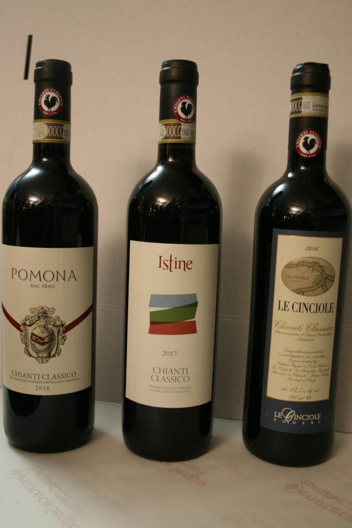 Tre Chianti Classico Pomona, Istine, Le Cinciole