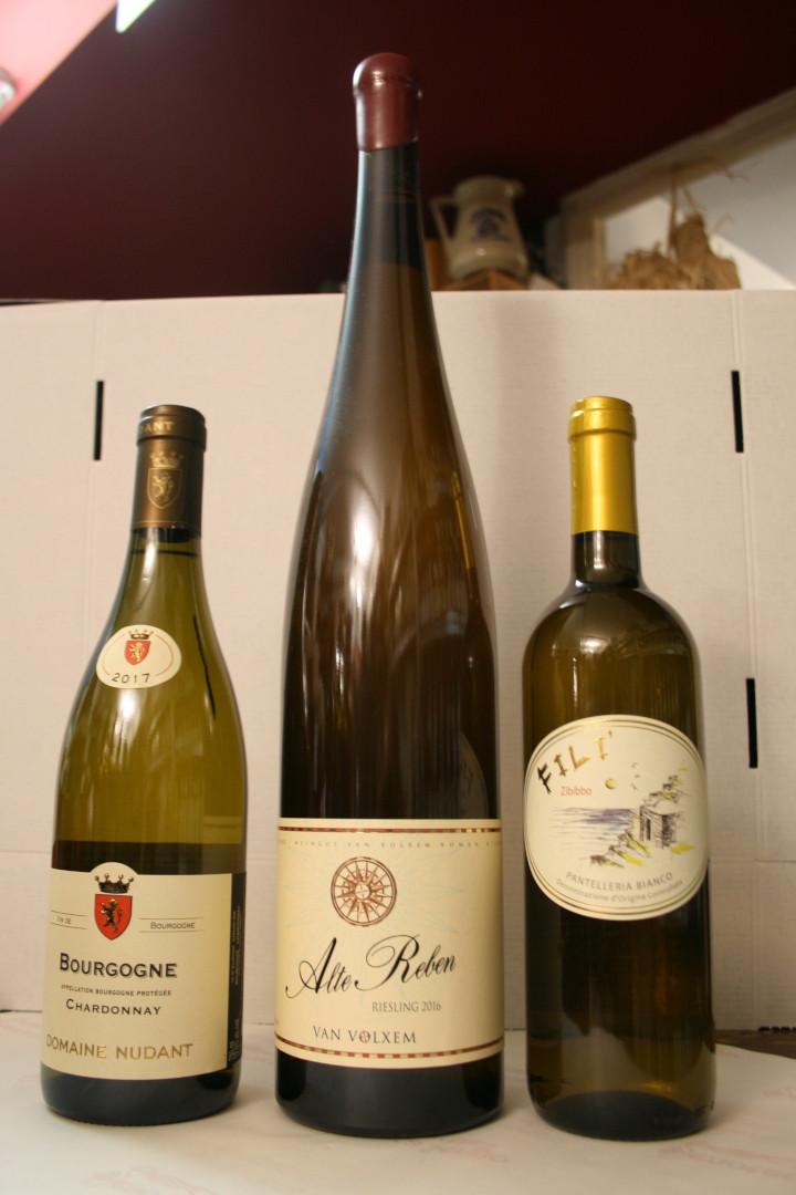 Tre bianchi da Pantelleria Francia e Germania
