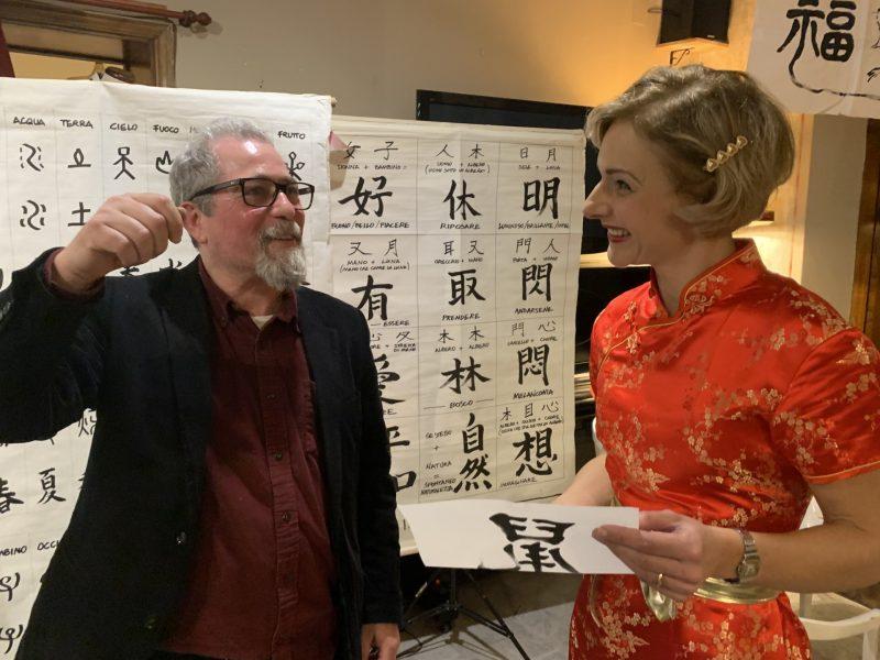 Franco Pagliarulo maestro di shodo arte della calligrafia