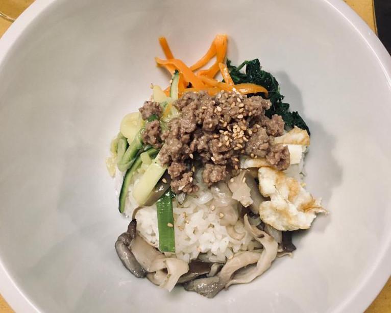 piatto coreano bibimbap