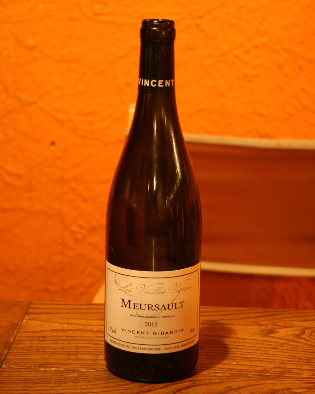 Mersault Vieilles Vignes 2015 Vincent Girardin